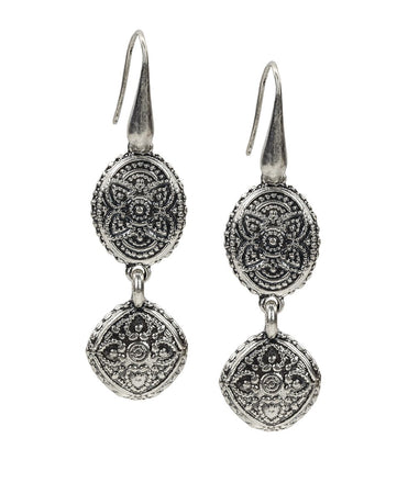 Filigree Double Drop Earrings - Filigree Double Drop Earrings