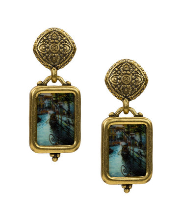Filigree Drop Earrings - Venice Postcard - Filigree Drop Earrings - Venice Postcard