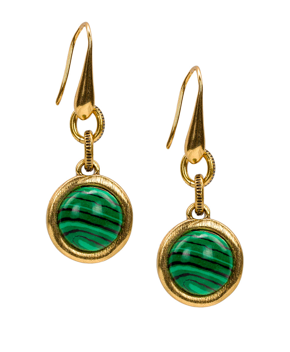 Dangle Earrings - Malachite 1