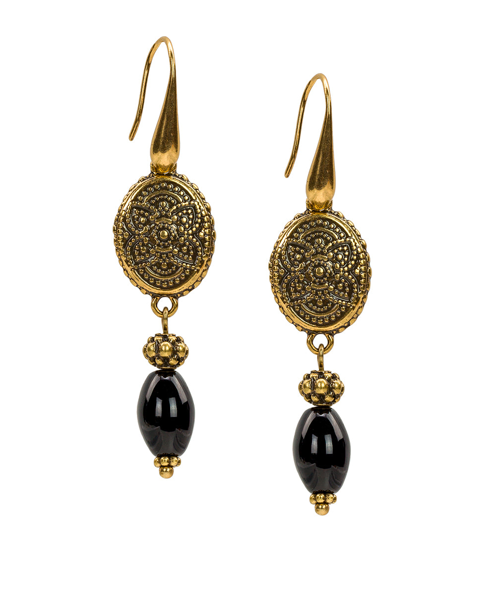 Filigree Bead Drop Earrings