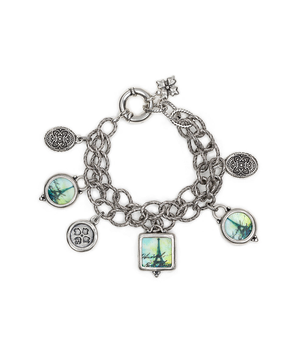 Double Charm Bracelet - Paris Postcard