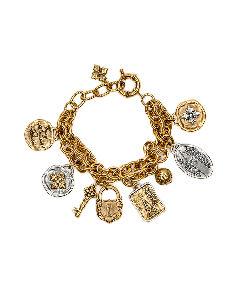 Charm Bracelet - Romantic Travel