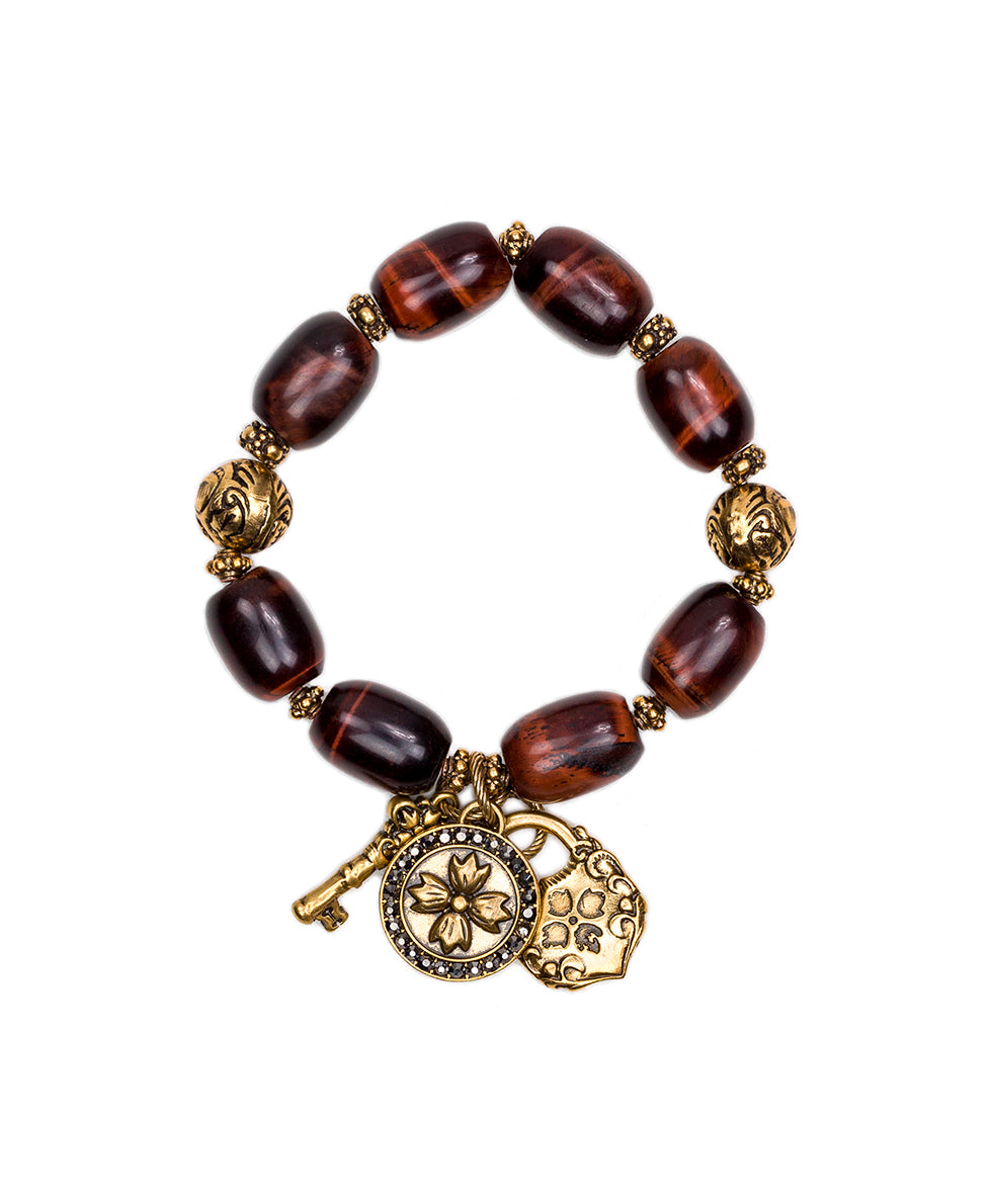 Red Tiger's Eye Stretch Bracelet - Romantic Travel