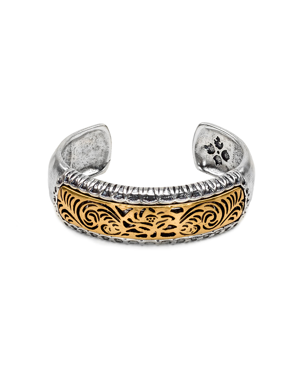 Cavo Tooling Metal Cuff - Silver Ox/Russian Gold