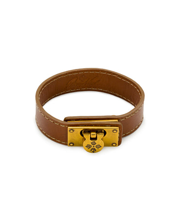 Natalia Tan Leather Cuff