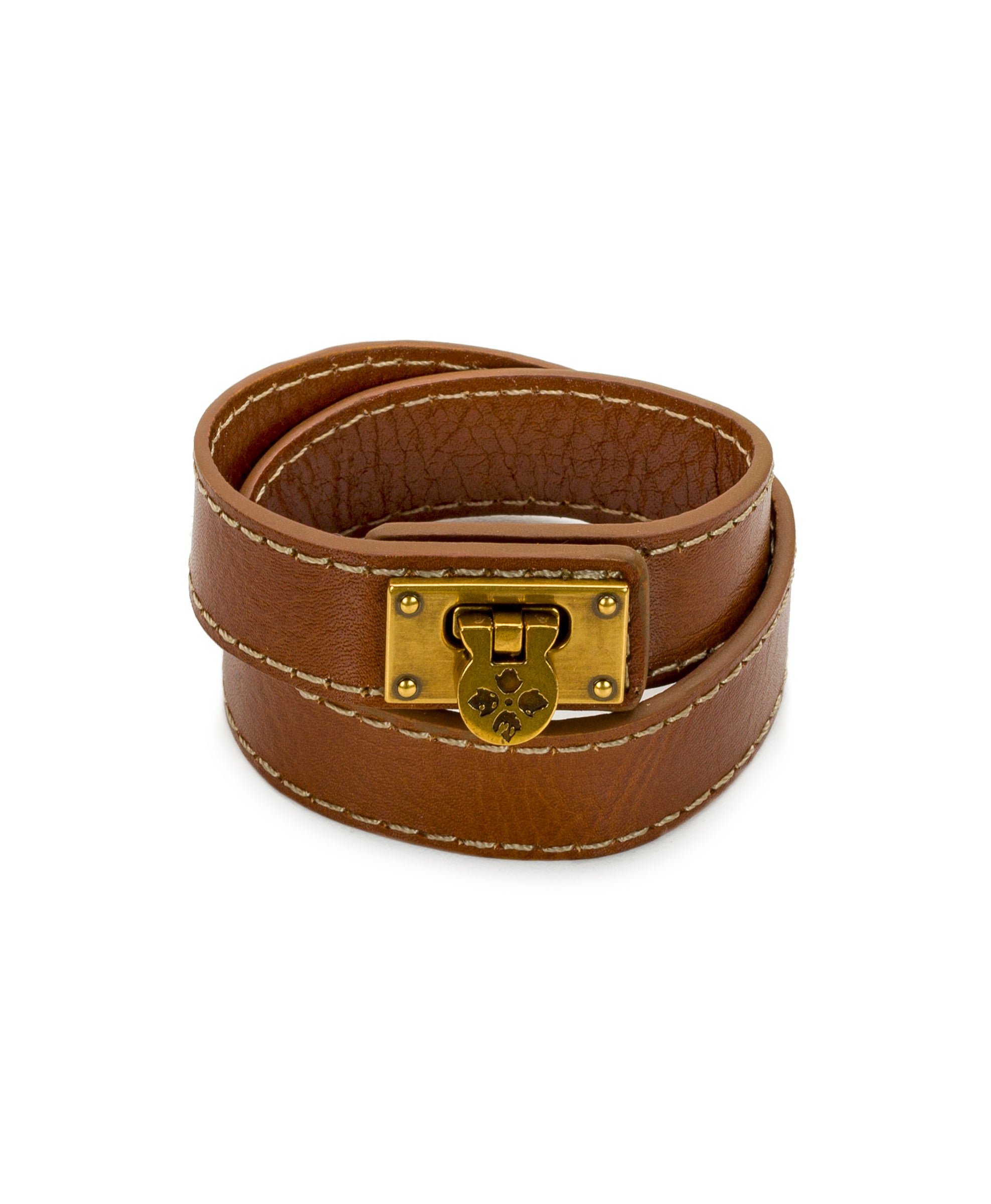 Rose Tan Leather Cuff