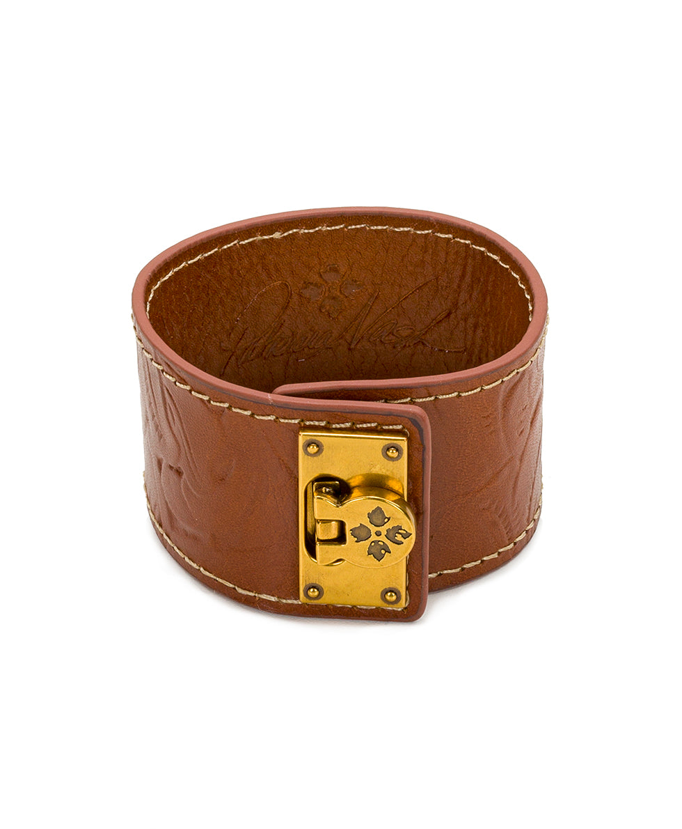 Irena Florence Leather Cuff