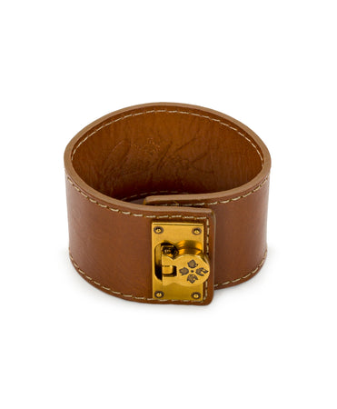 Irena Tan Leather Cuff