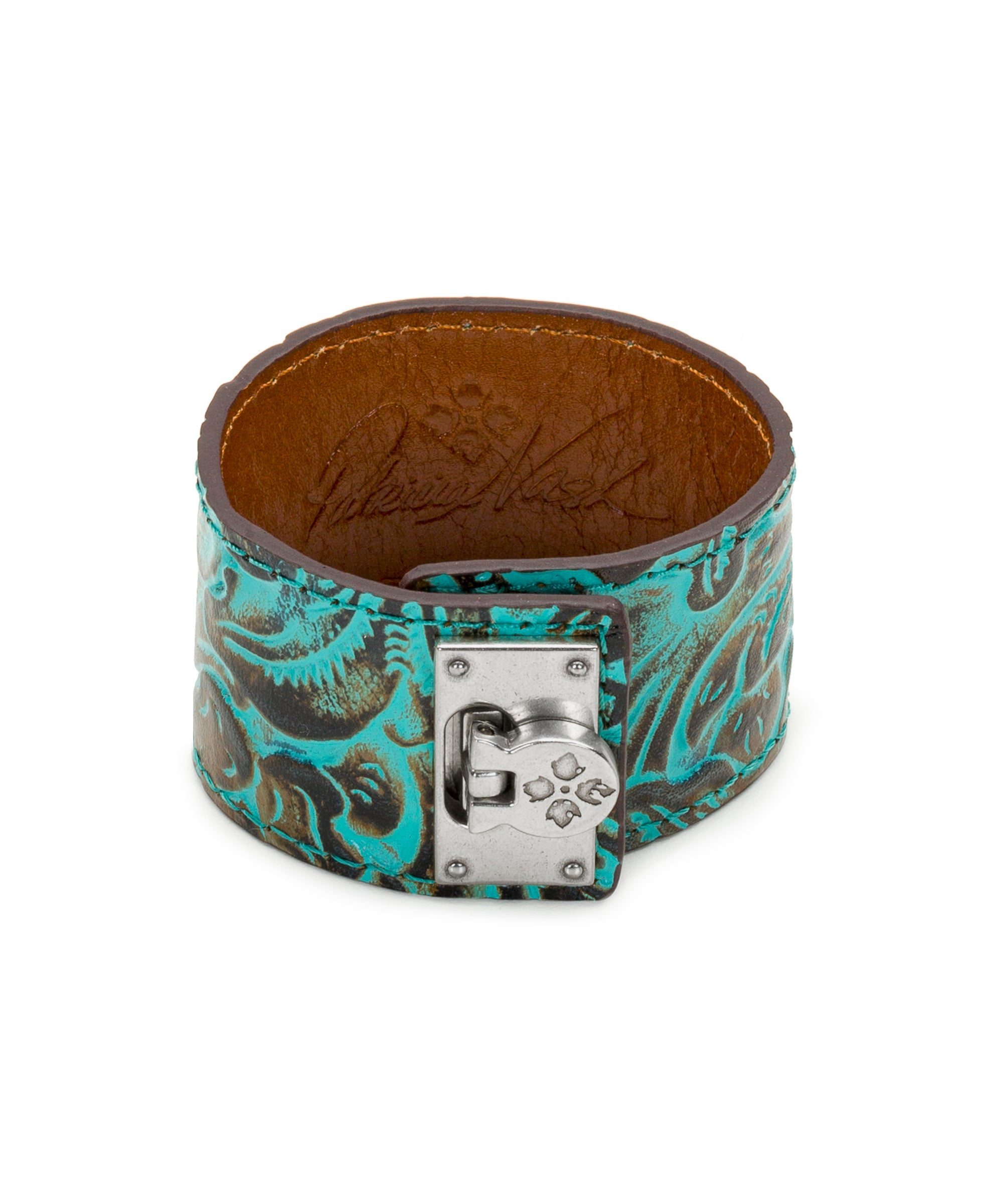 Irena Turquoise Leather Cuff - Irena Turquoise Leather Cuff