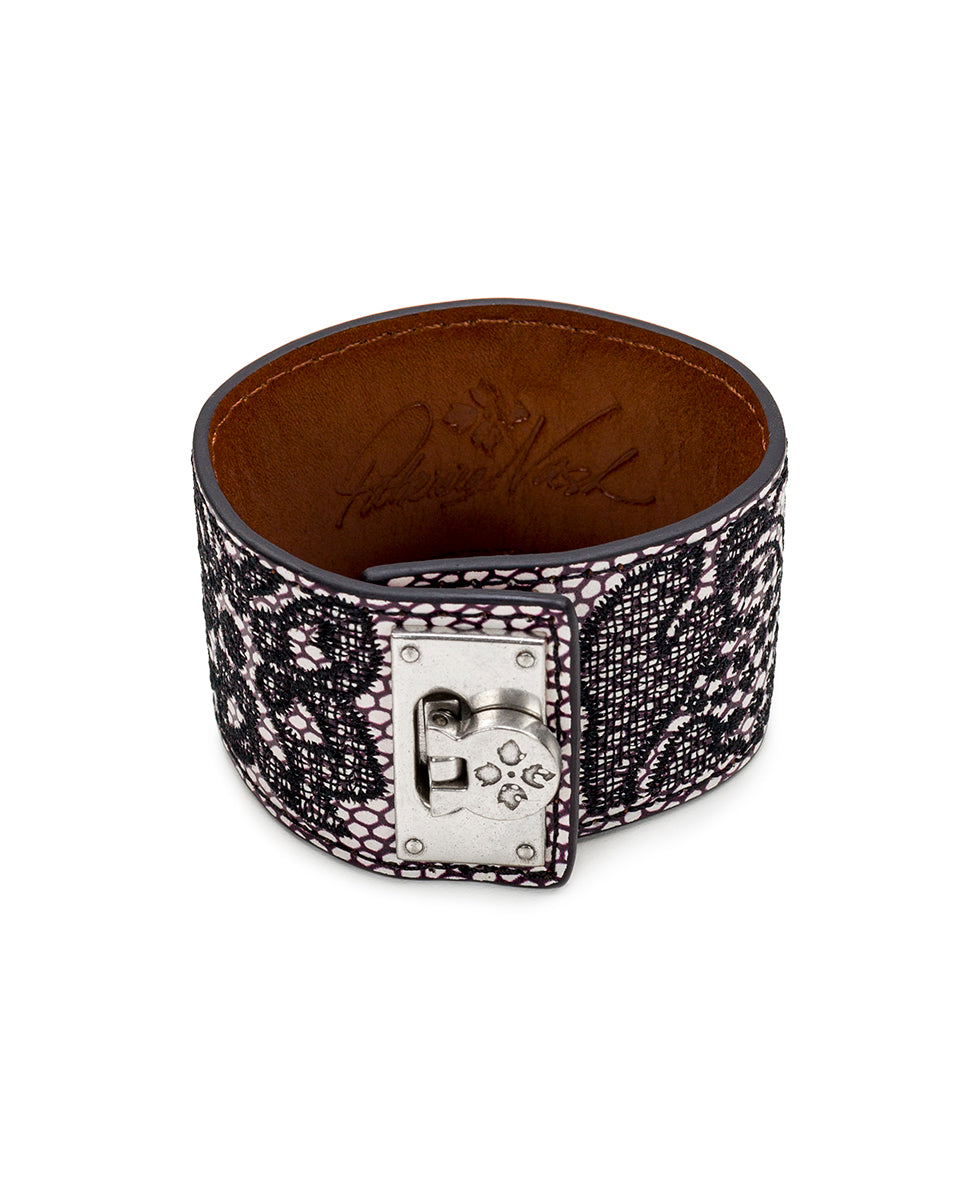 Irena Leather Cuff - Chantilly Lace