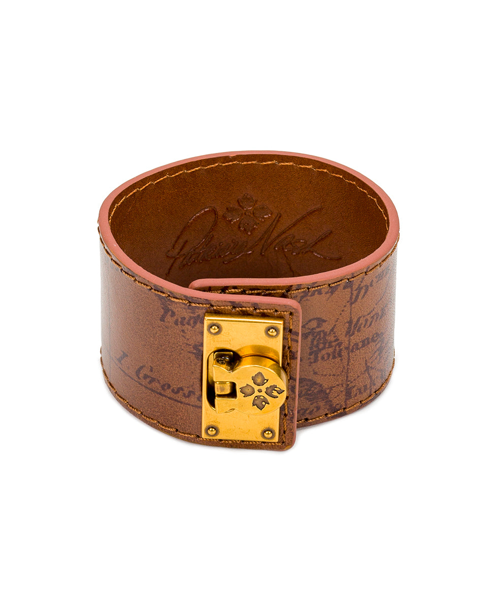 Irena Leather Cuff - Signature Map