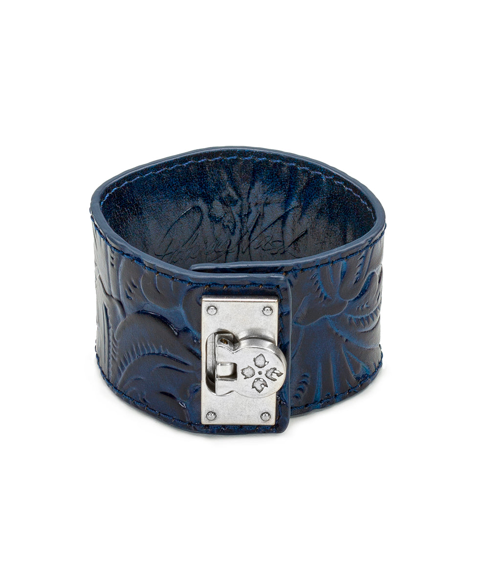Irena Midnight Blue Leather Cuff