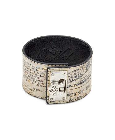 Irena Newspaper Leather Cuff