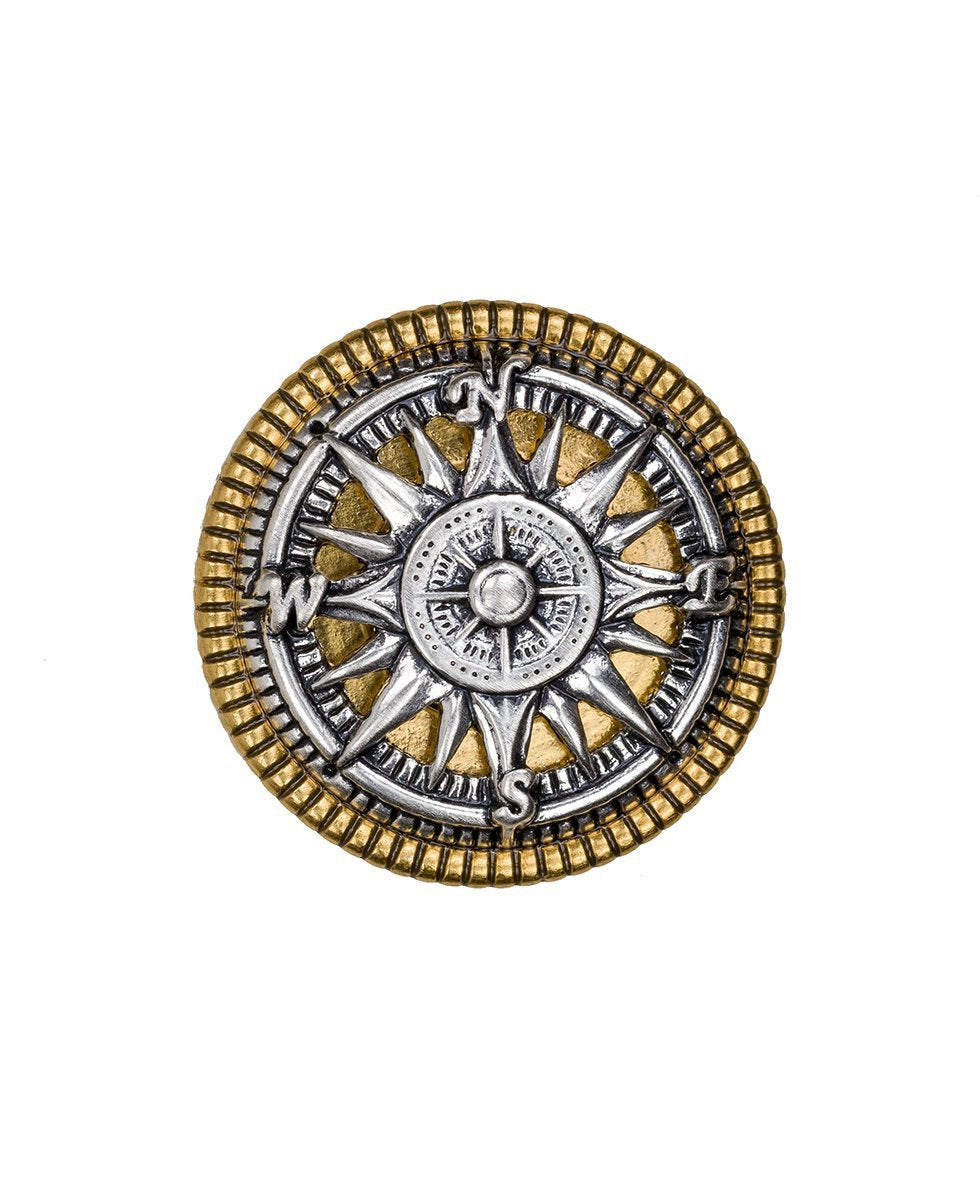 Russian Gold Compass Enamel Ring - Russian Gold Compass Enamel Ring