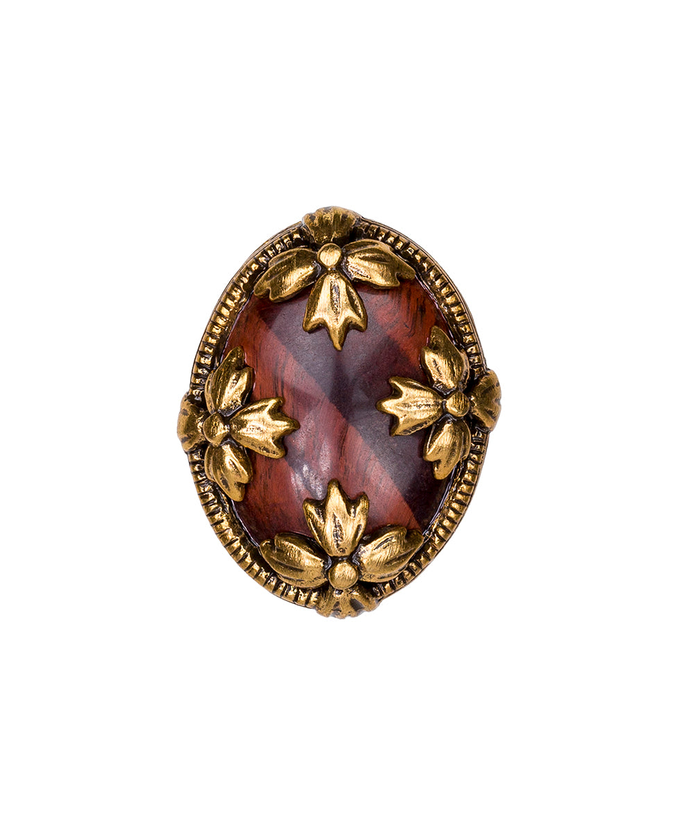 Floret Red Tiger's Eye Ring 2