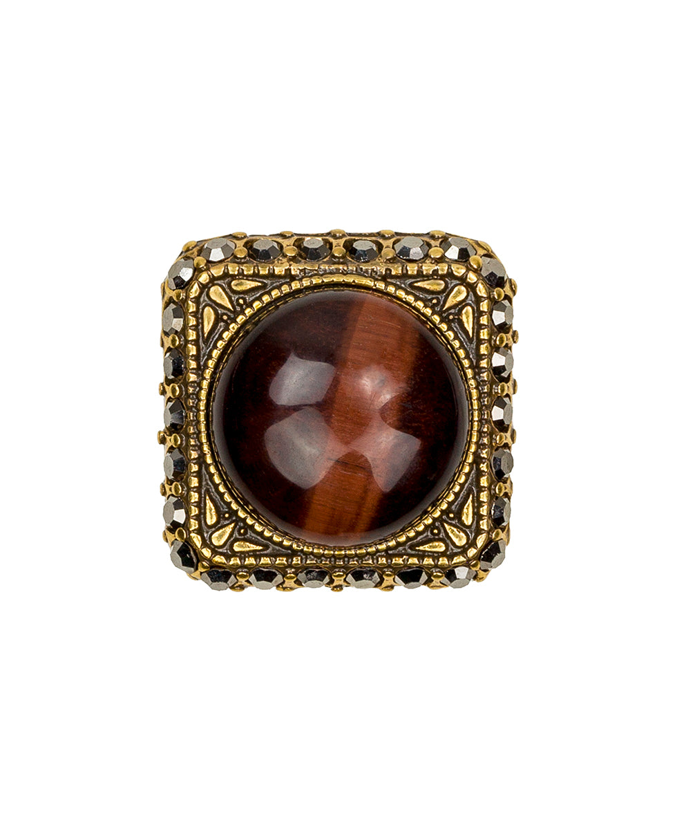 Red Tiger's Eye Ring 2