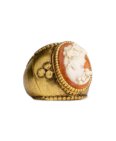 Cameo Adjustable Ring - Russian Gold
