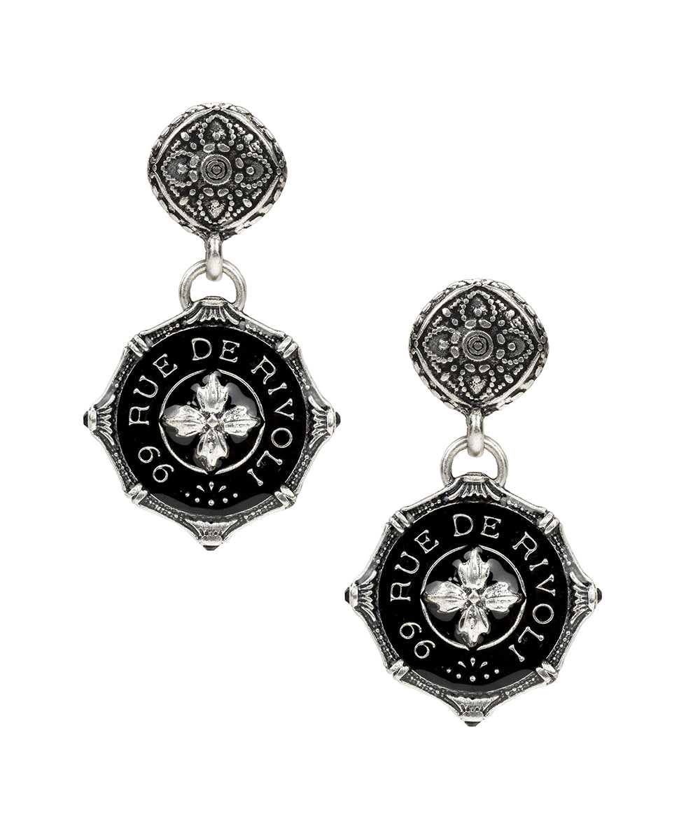 Filigree Rue De Rivoli Drop Earrings - Silver Ox