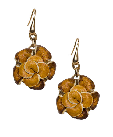 Annette Flower Earrings - Bouquet Collection Russian Gold - Rattan