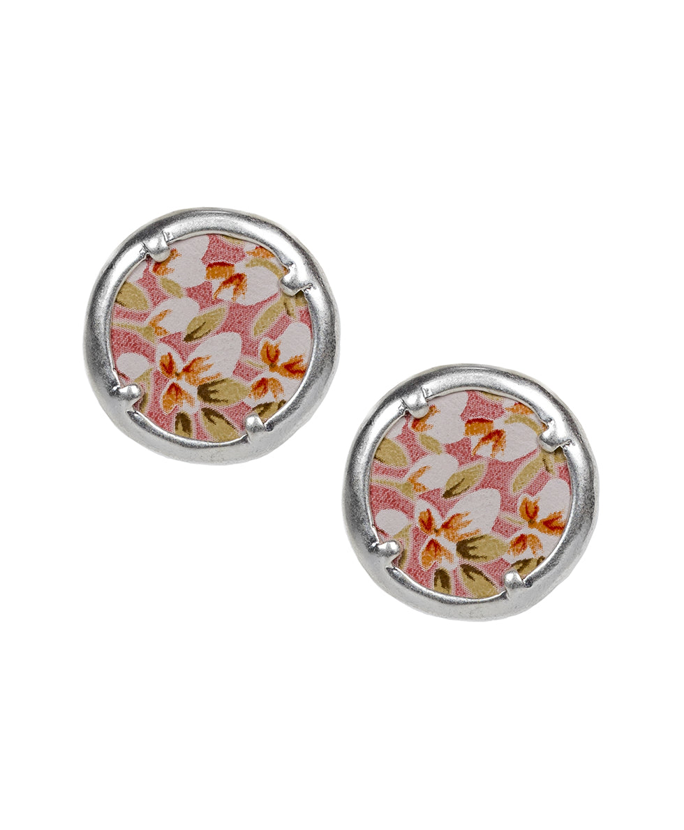 Alice Button Earrings - Blush Bouquet