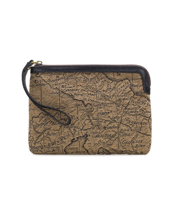 Cassini Wristlet - Jacquard - Tan/Black