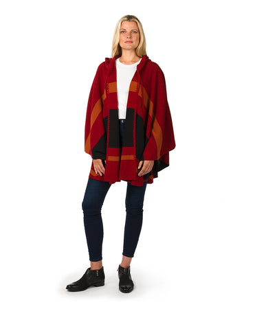 Striped Hooded Cape - Striped Hooded Cape