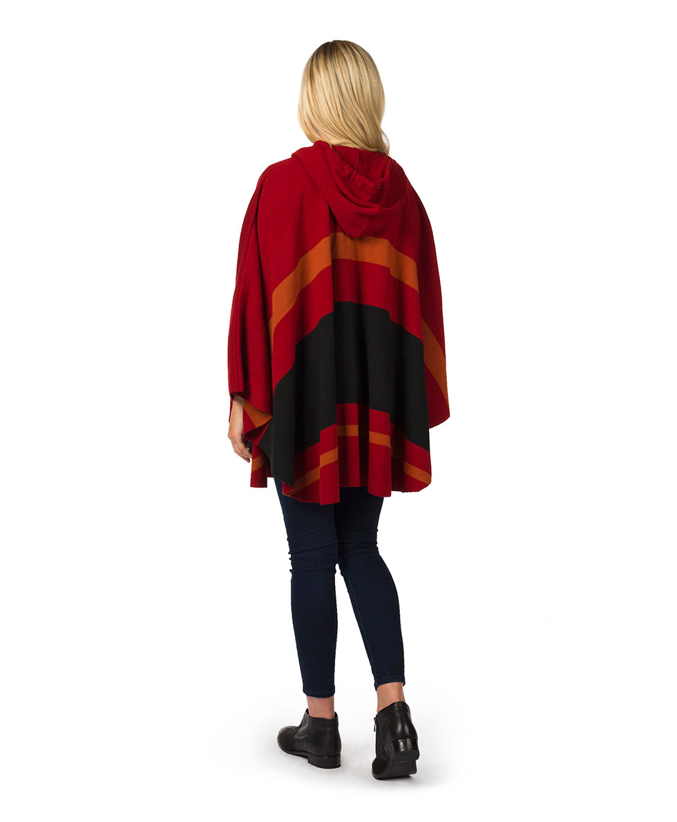 Striped Hooded Cape 2