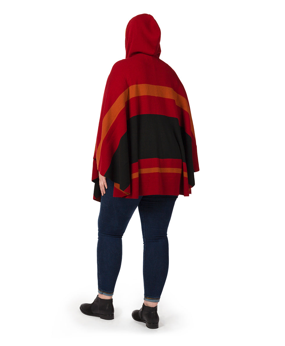 Striped Hooded Cape 5
