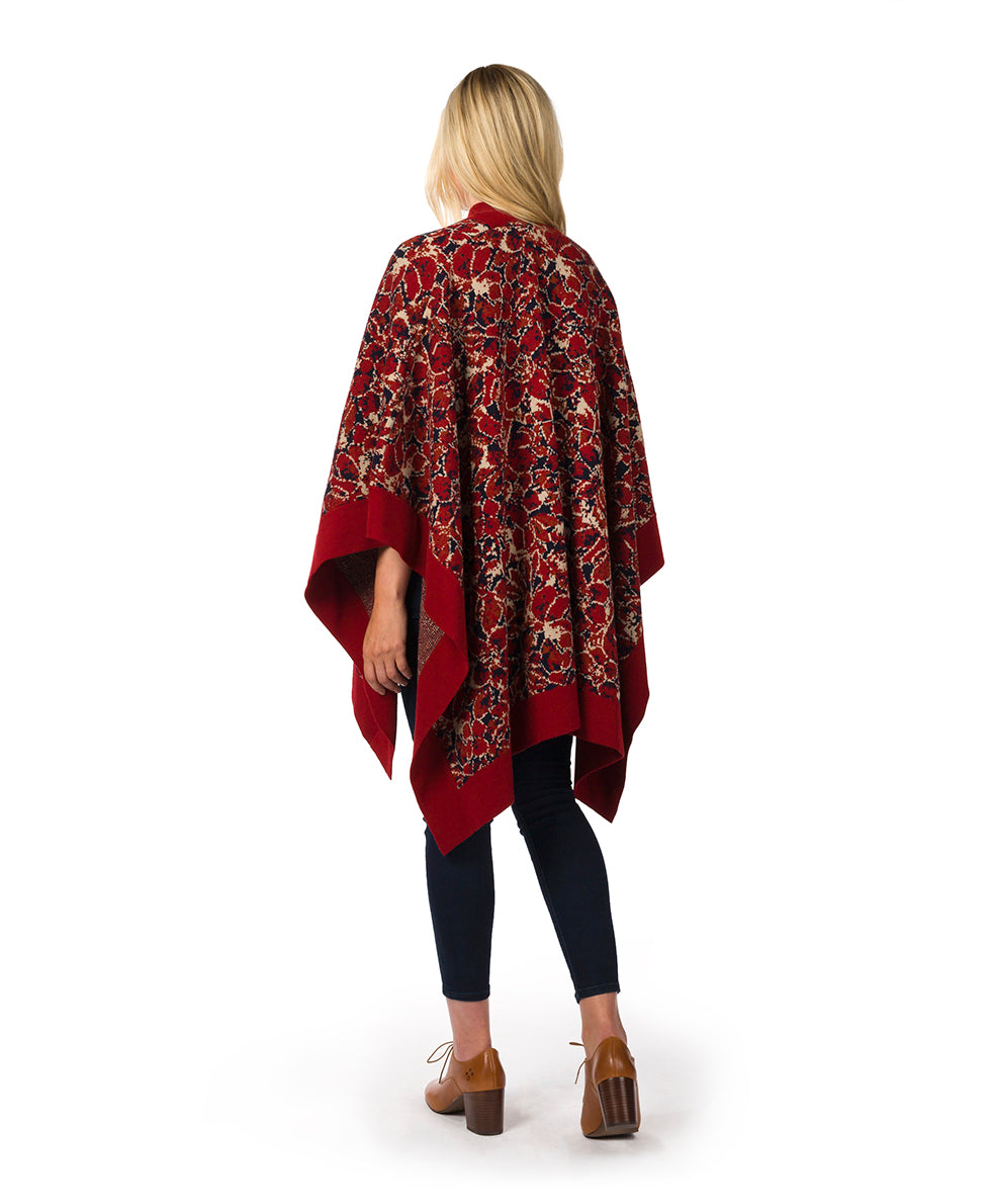 Short Shawl - Scarlet Bloom 7