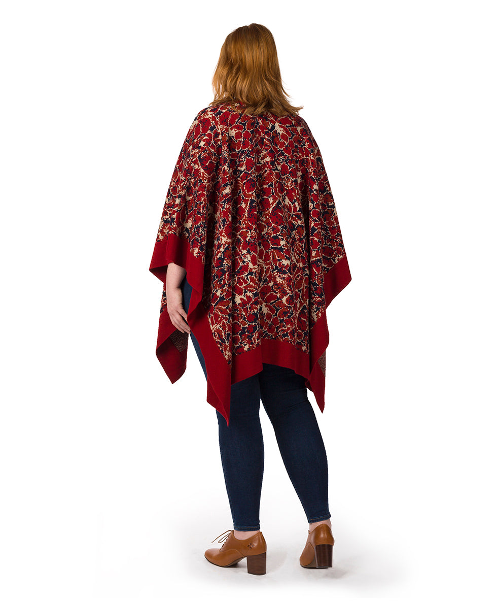 Short Shawl - Scarlet Bloom 3