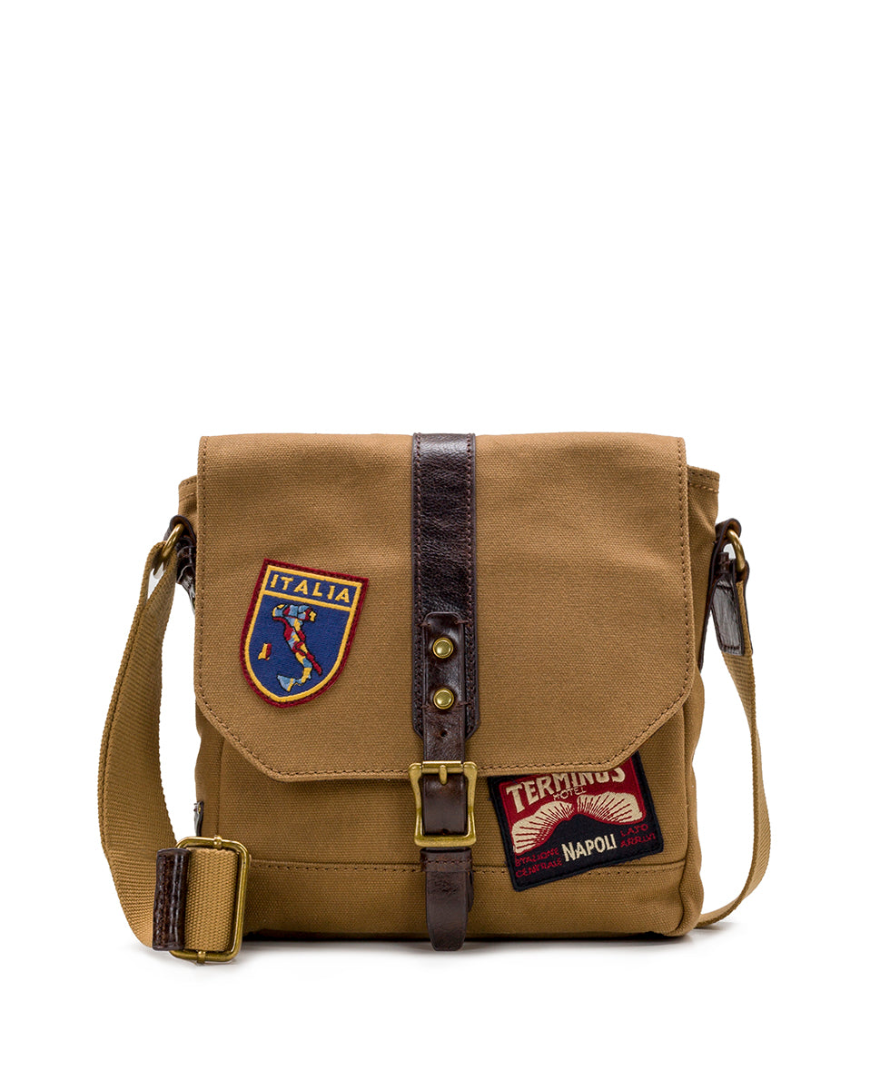 North/South Crossbody - Travelers Canvas Patch