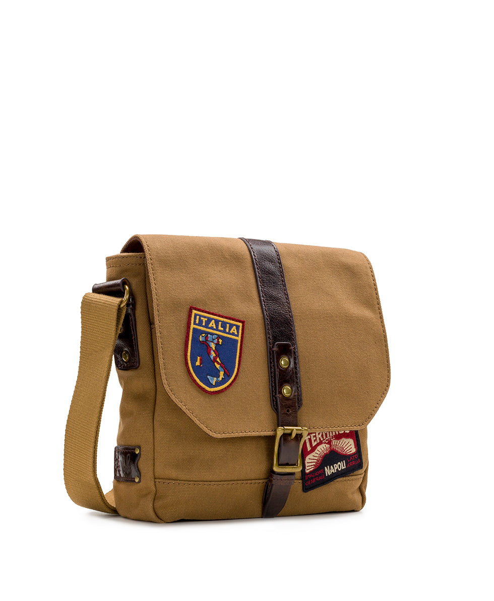 North/South Crossbody - Travelers Canvas Patch 3
