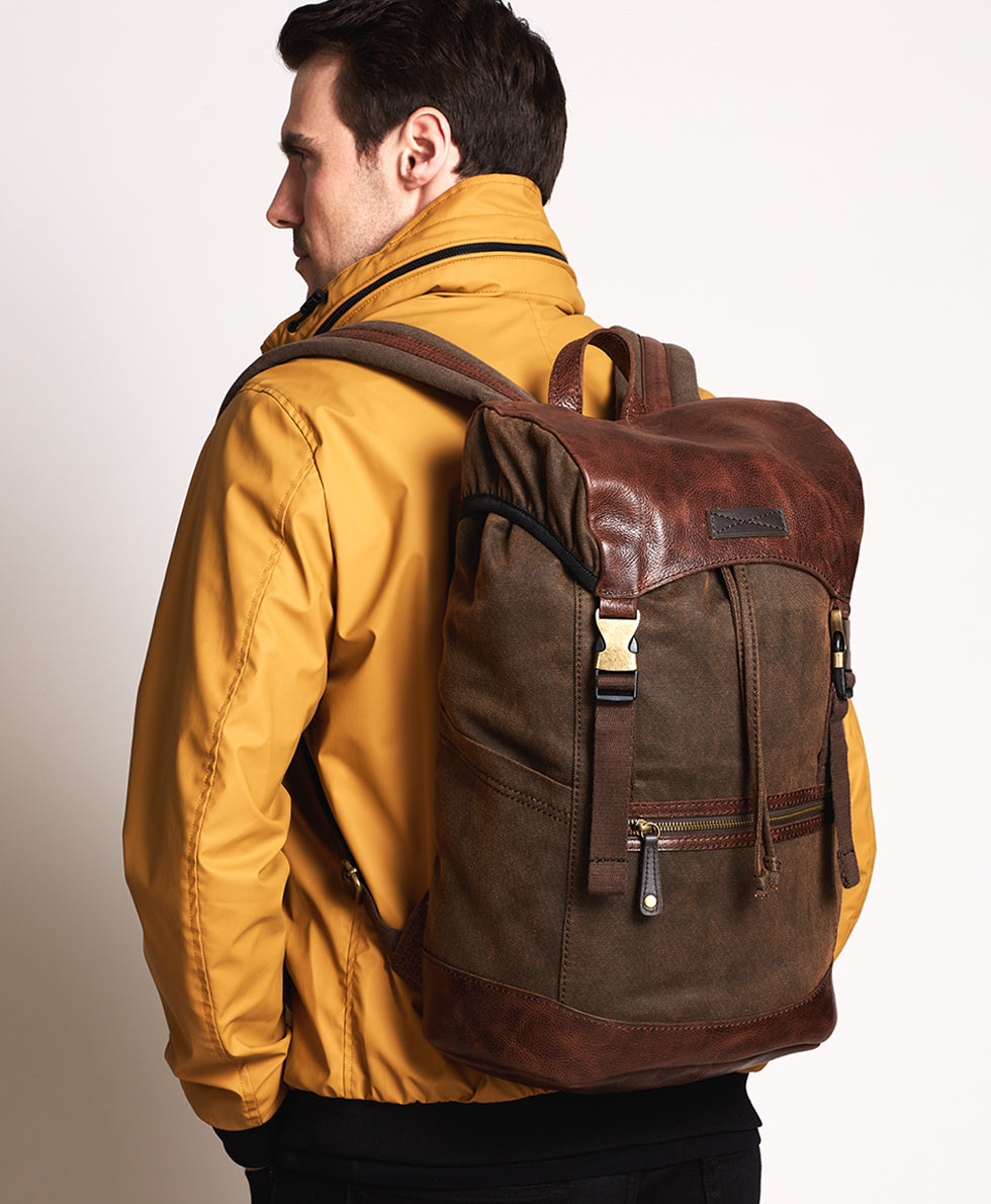 Firenze Backpack - Twill Brown 5