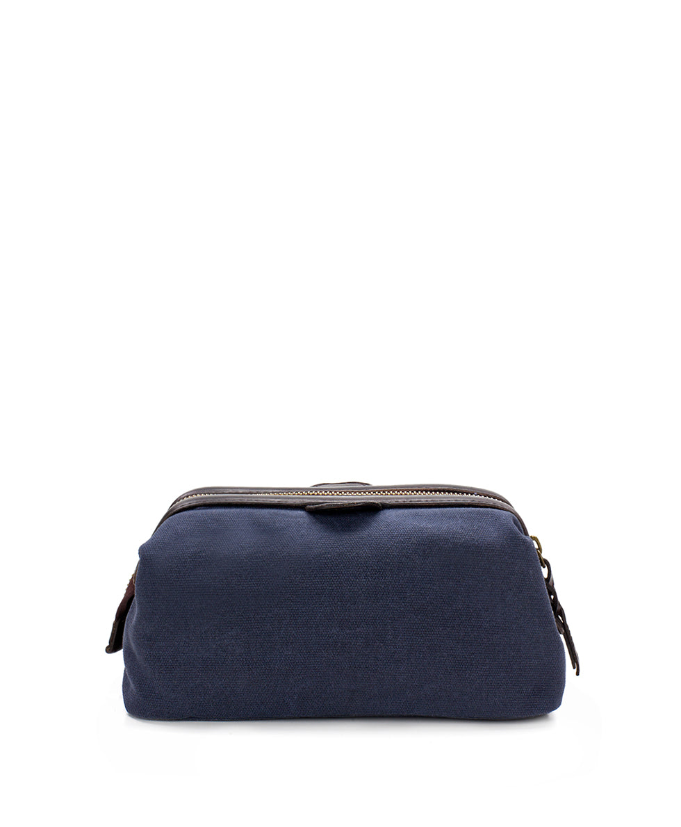 Travel Case - Roma Canvas Navy 2