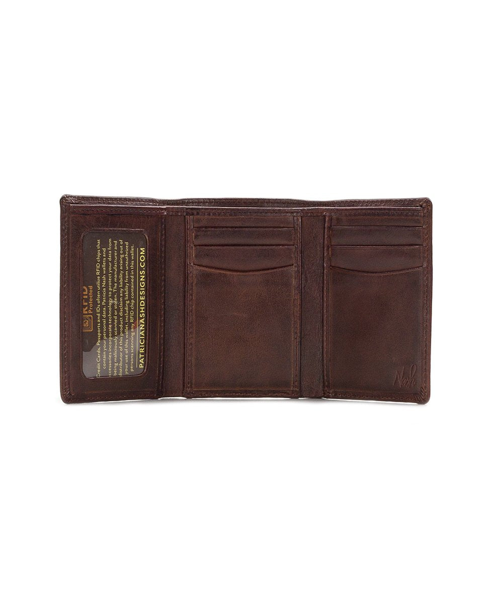 Trifold ID Wallet - Sanremo Brown 2