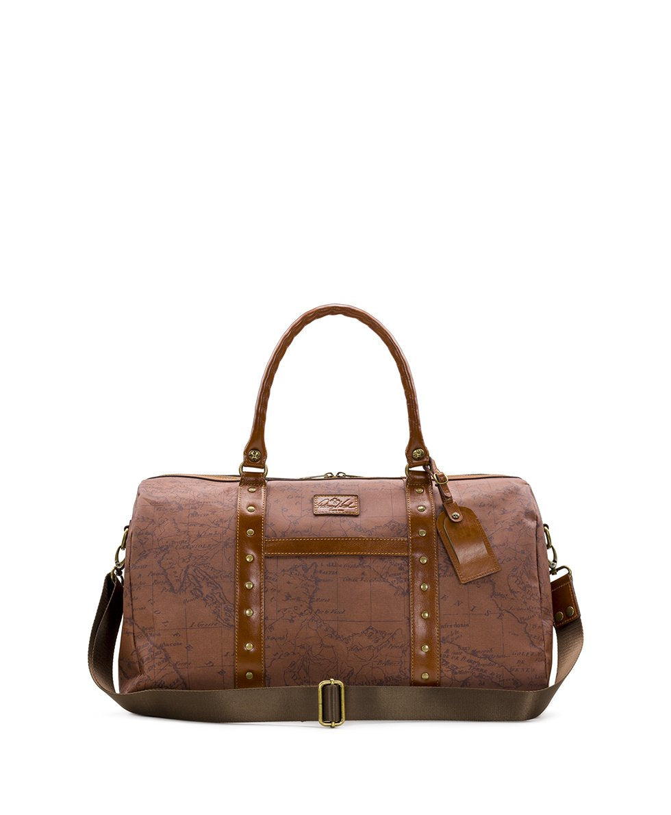 Milano Duffel - Patina Coated Linen Canvas Signature Map