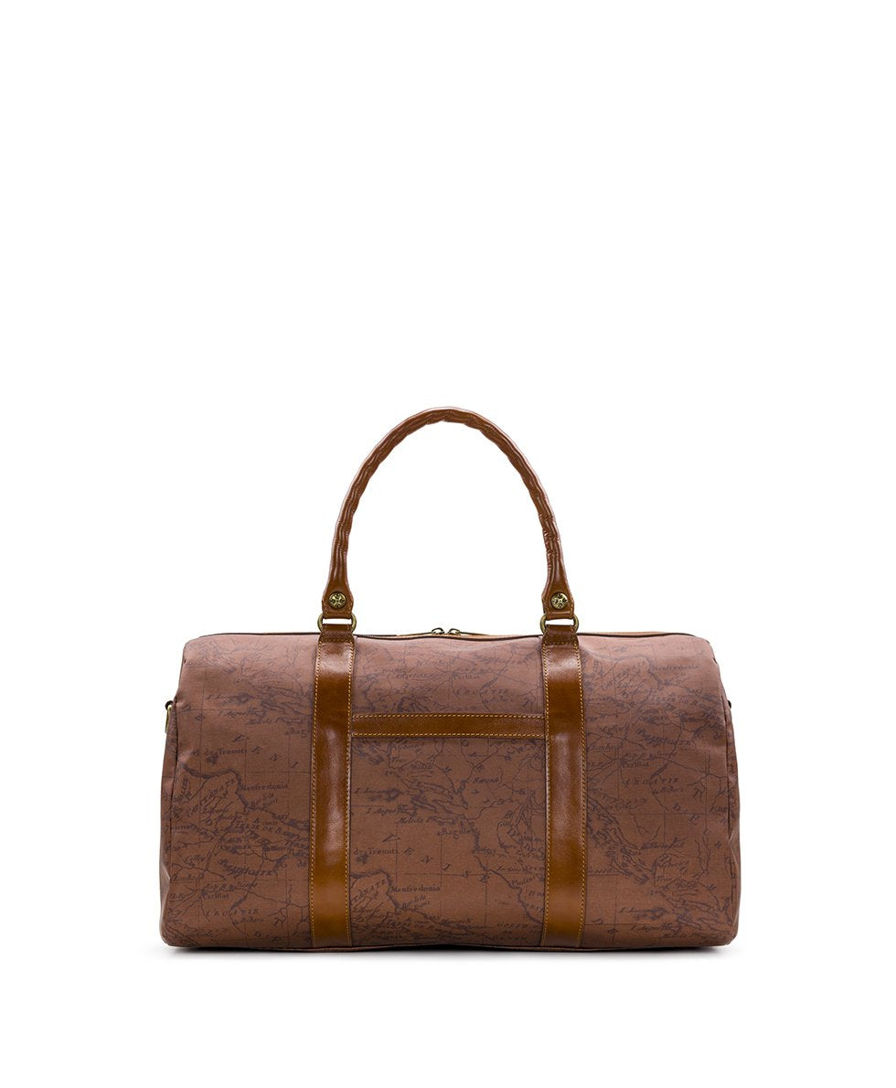 Milano Duffel - Patina Coated Canvas Signature Map 2