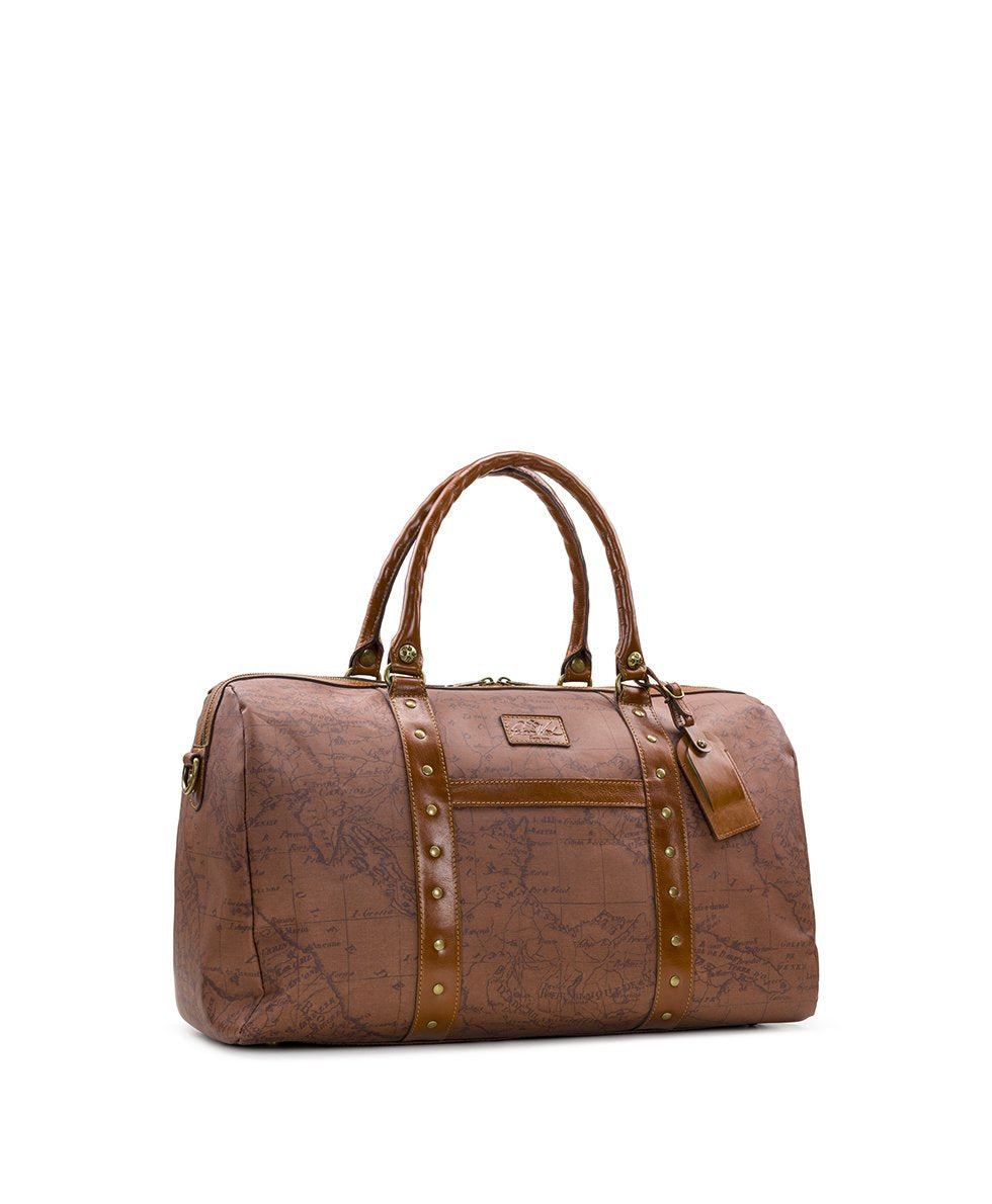 Milano Duffel - Patina Coated Canvas Signature Map 3