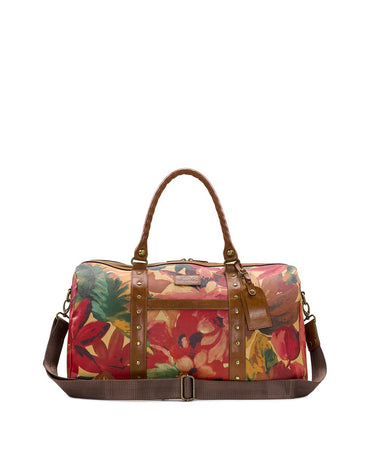 Milano Duffel - Patina Coated Canvas Spring Multi - Milano Duffel - Patina Coated Canvas Spring Multi