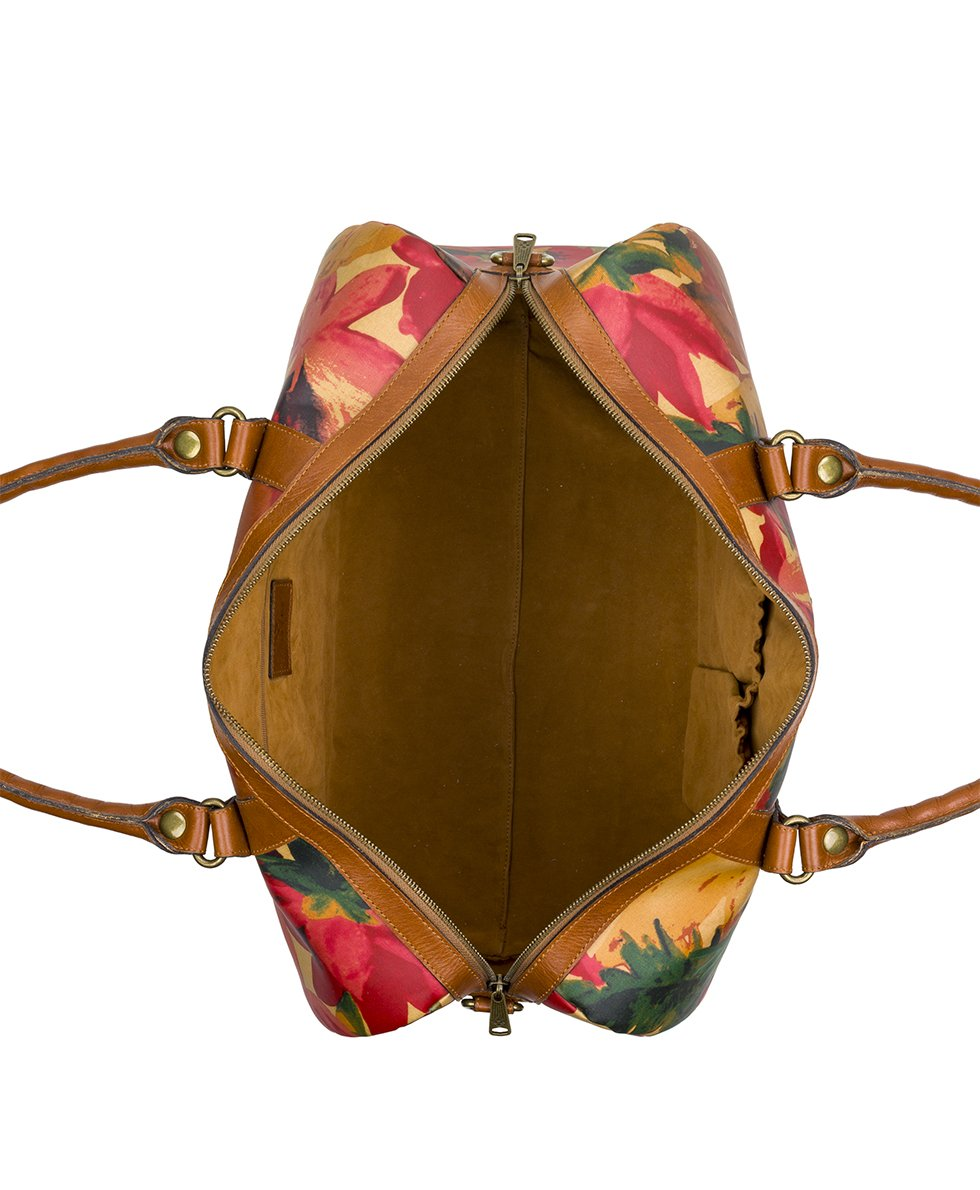 Milano Duffel - Patina Coated Canvas Spring Multi