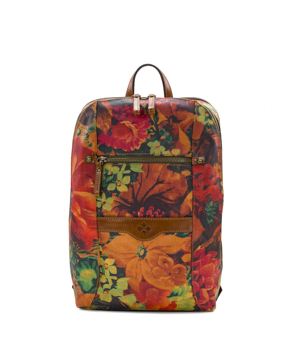 Pontori Backpack - Patina Coated Linen Canvas Multi