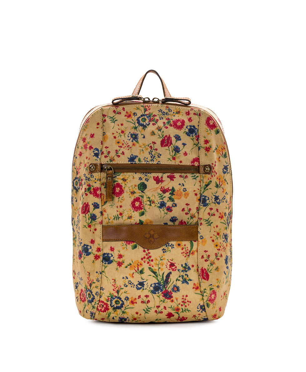 Pontori Backpack - Patina Coated Linen Canvas Prairie Rose