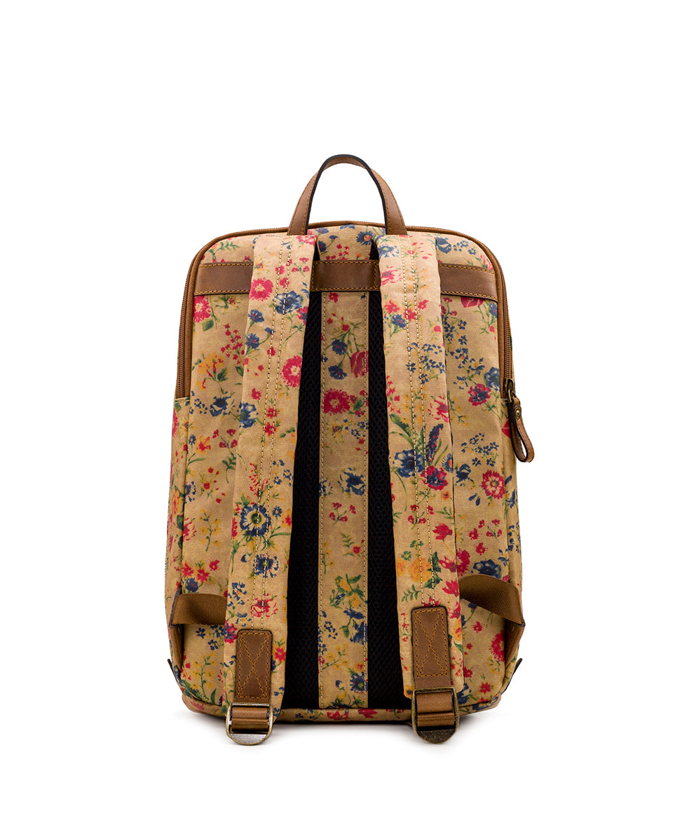 Pontori Backpack - Patina Coated Linen Canvas Prairie Rose 2