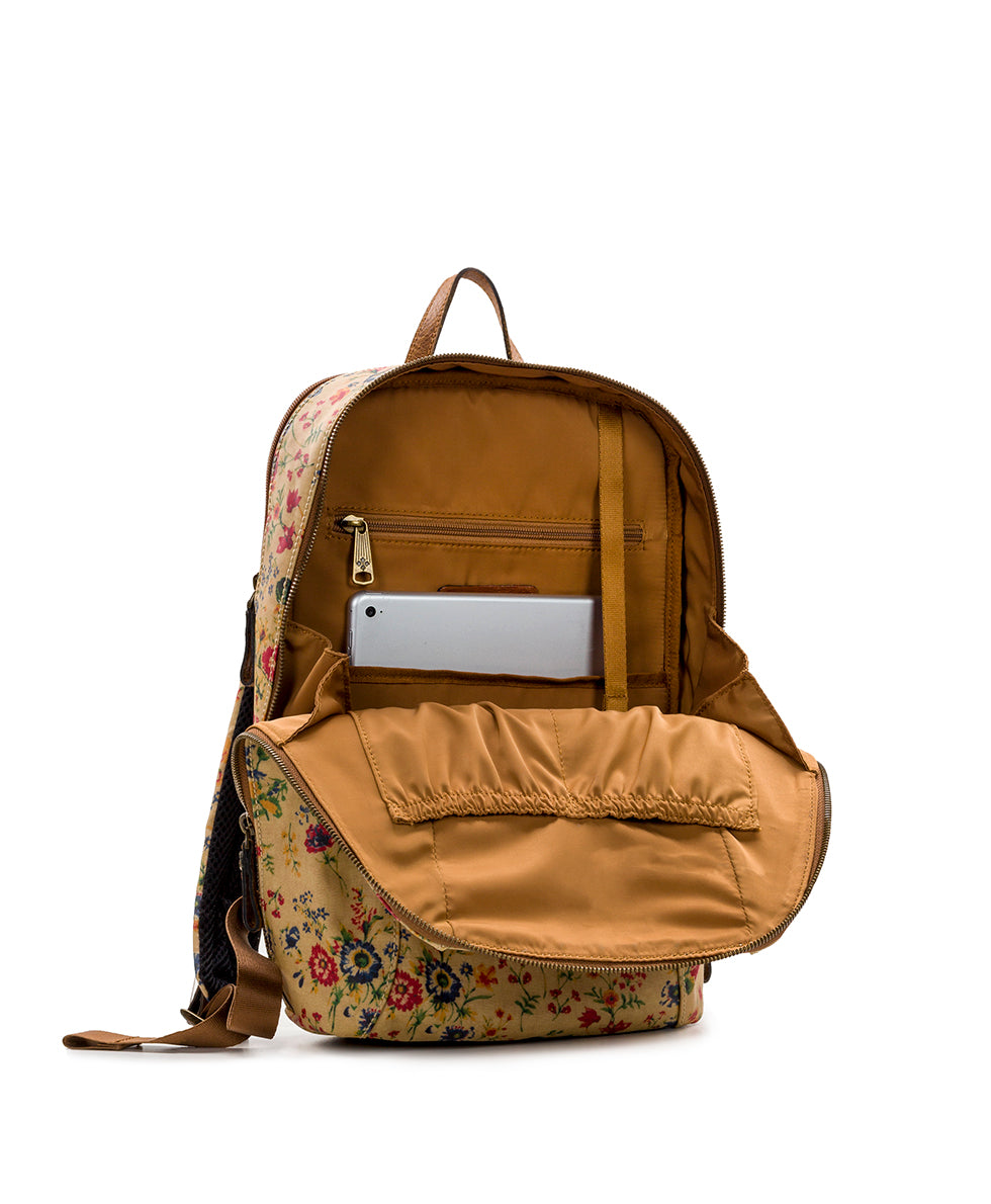 Pontori Backpack - Patina Coated Linen Canvas Prairie Rose 3