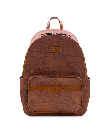 Genoa Backpack - Patina Coated Canvas Signature Map - Genoa Backpack - Patina Coated Canvas Signature Map