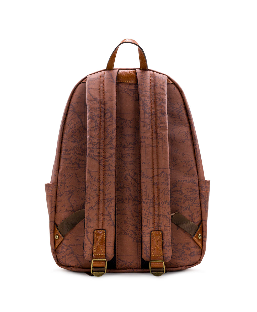 Genoa Backpack - Patina Coated Canvas Signature Map 2