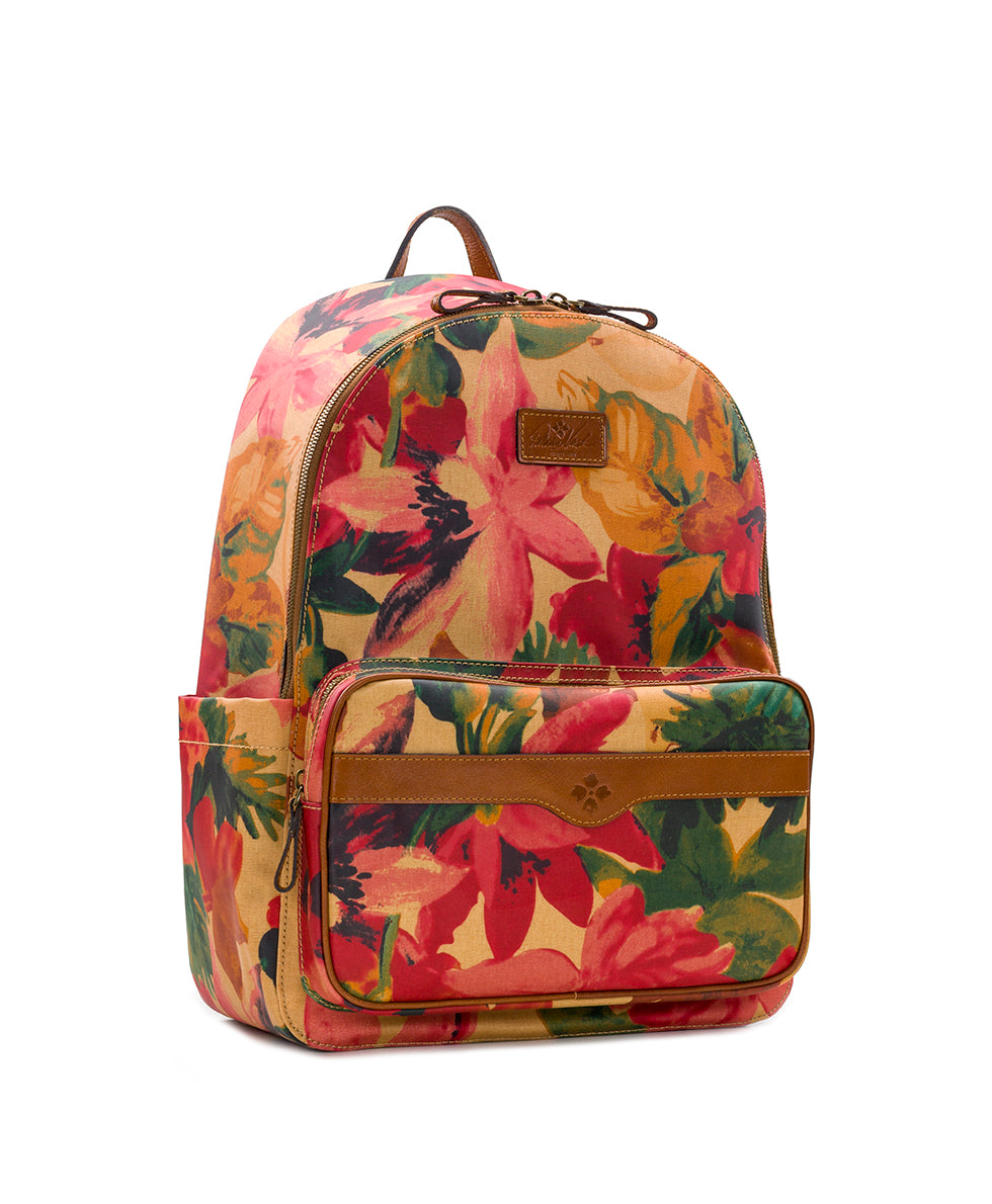 Genoa Backpack - Patina Coated Canvas Spring Multi 3
