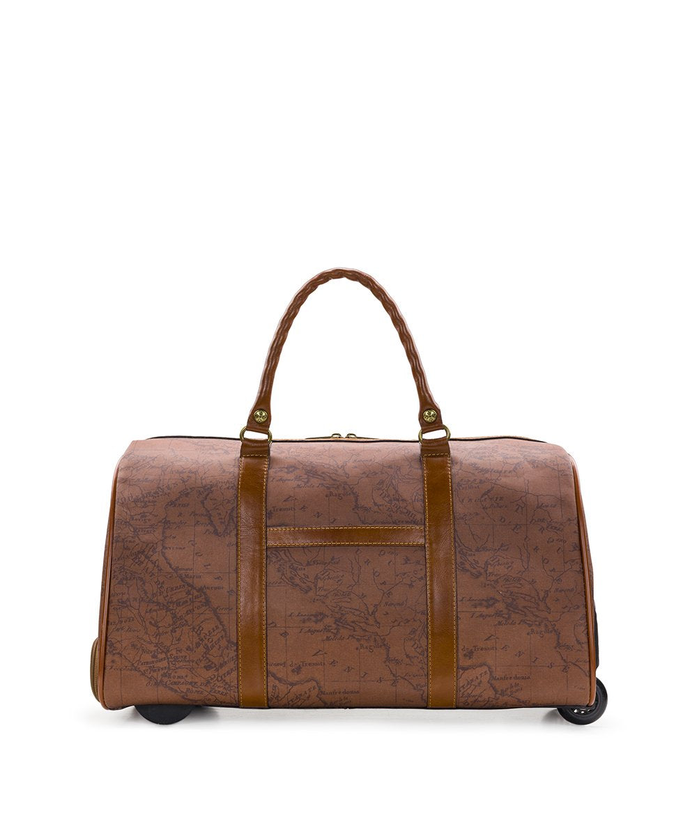 Avola Trolley Duffel - Patina Coated Canvas Signature Map 2
