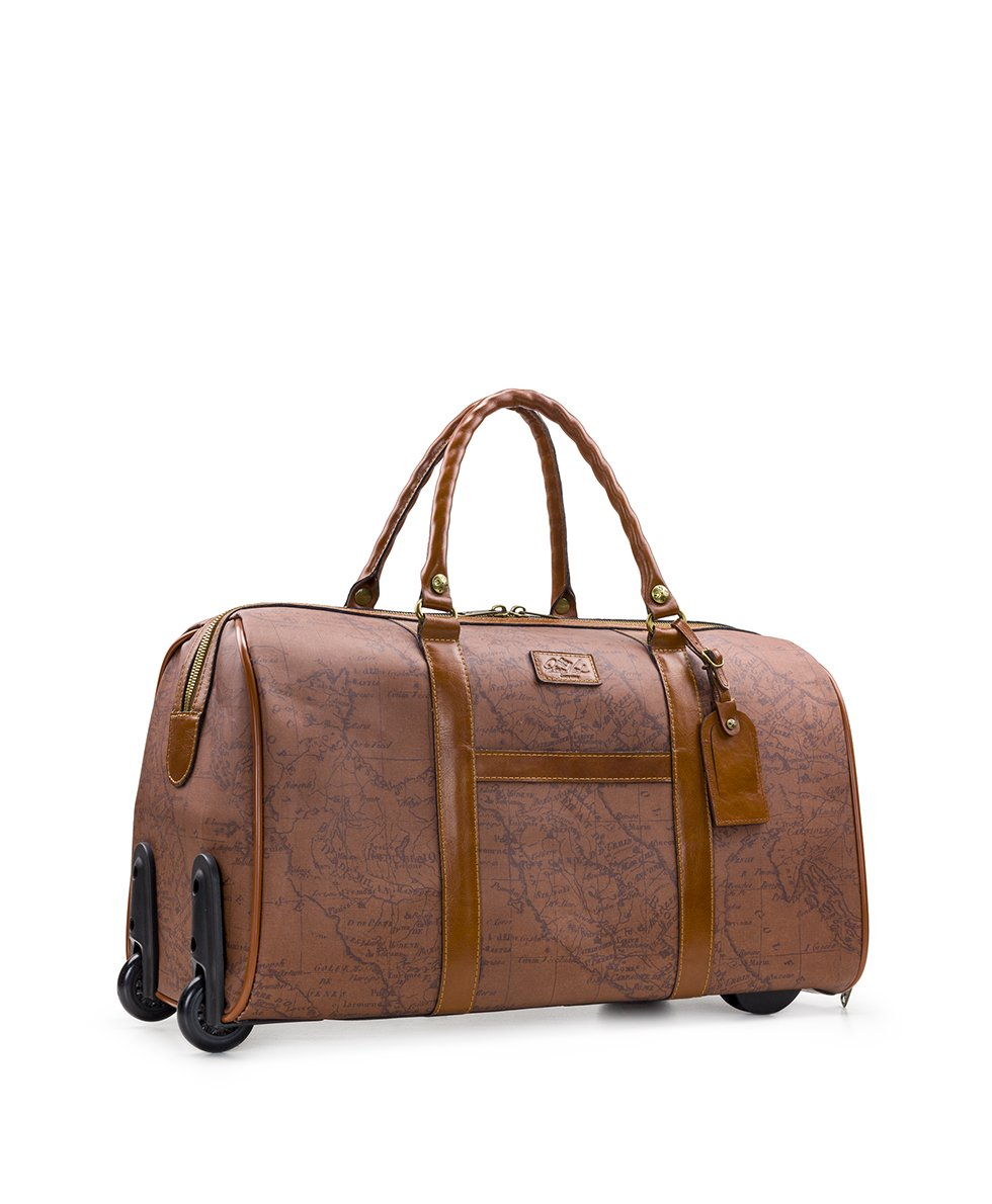 Avola Trolley Duffel - Patina Coated Canvas Signature Map 3
