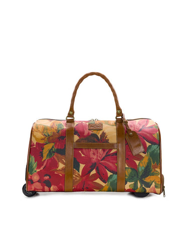 Avola Trolley Duffel - Patina Coated Canvas Spring Multi - Avola Trolley Duffel - Patina Coated Canvas Spring Multi